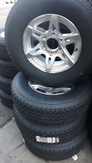 4 new wheels & tires 15 inch trailer $500 for Sale in La Palma, CA