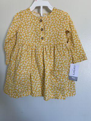 New baby girl yellow flower dress for Sale in San Bernardino, CA