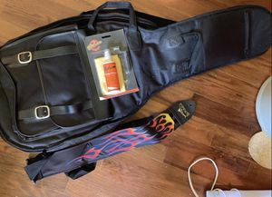 Guitar Carrying Case, Cleaner Kit, Guitar Strings, Strap, Chord Book and Poster for Sale in Angier, NC