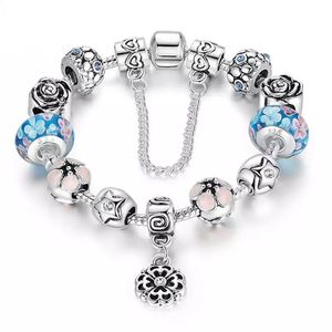 Charm bracelet like Pandora style enamel, silver plated over zinc alloy for Sale in Manakin-Sabot, VA