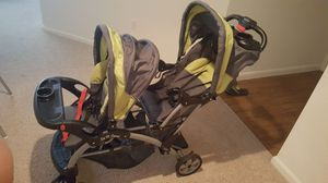 Baby Trend double stroller and carseat for Sale in Orlando, FL