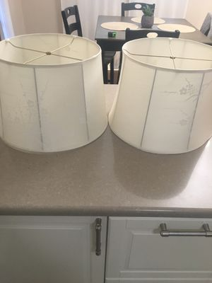 Authentic Thai-silk ginger flower lampshades for Sale in Springfield, VA