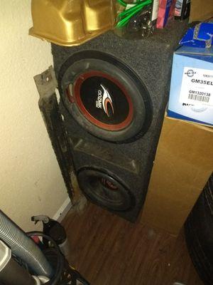 Dual 15in speaker box with 2 quantum audio speakes 🔊 for Sale in Houston, TX