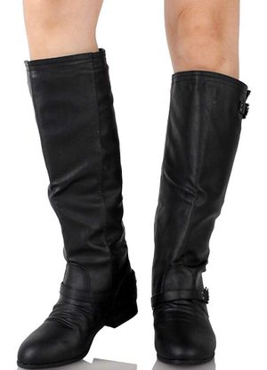 Knee high brand new black leather boots size 7 for Sale in Denver, CO