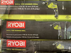 Brand new ryobi 5/8 vsr hammer drills 40 each only for Sale in Plant City, FL