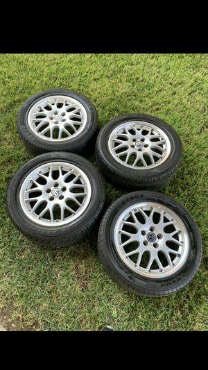 Lightweight 3 piece bbs rims/wheels upgrade your mk4 jetta, passat, golf, gti or beetle for Sale in Beaumont, CA