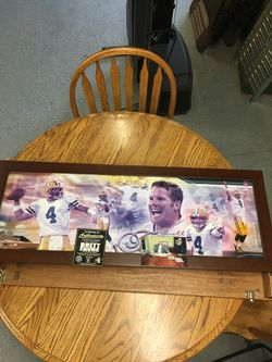 Brett Fahr Autographed Framed Picture With poloroid Of Signing for Sale in Hudson, IA