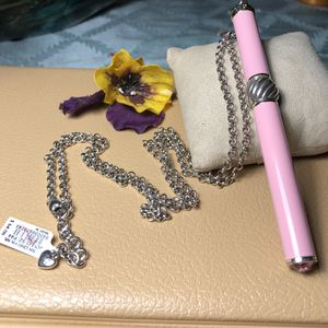 Brighton pink Pen Pal Charm Pen Necklace with Interchangeable Beads for Sale in Manassas, VA