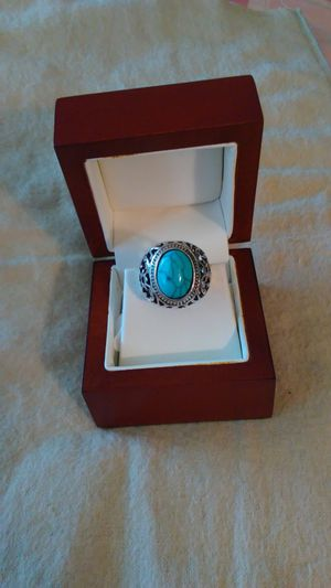 Silver plated turquoise ring. Size 7 for Sale in Richardson, TX
