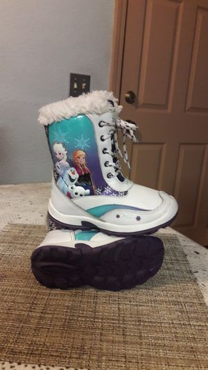 Frozen girl snow boots for Sale in Stockton, CA