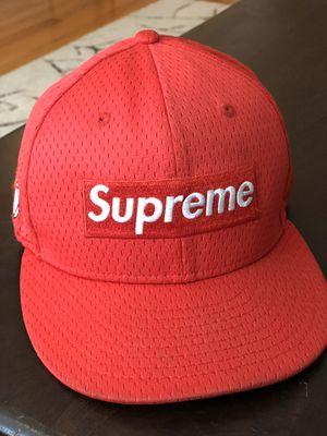 Supreme Red Box Logo New Era hat cap 7 1/2 for Sale in Glenview, IL