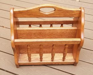 Oak magazine rack for Sale in Westminster, MD