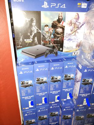 PS4 SLIM 1TB (1000GB) 3 FREE GAMES 🎁 ⭐THE LAS OF US ⭐GOD OF WAR ⭐HORIZON BRAND NEW 🎁 FACTORY SEALED 🎁 NEVER OPENED 🎁 WARRANTY WITH SONY ⚙⏳💯👍 for Sale in Phoenix, AZ