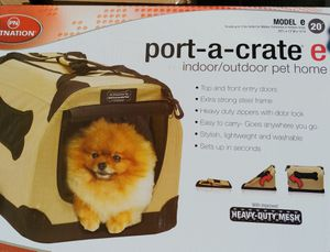 Petnation New Port a crate dog cat carrier Pet Home 20in Model E for Sale in Smyrna, TN