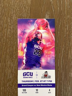 Grand Canyon University vs New Mexico Aggies College Basketball game for Sale in Litchfield Park, AZ