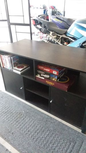 Dark brown black tv stand television console for Sale in Gilbert, AZ
