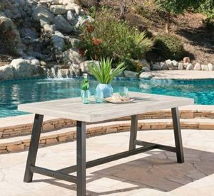 Christopher Knight Outdoor Acacia Wood Dining Table for Sale in San Fernando, CA