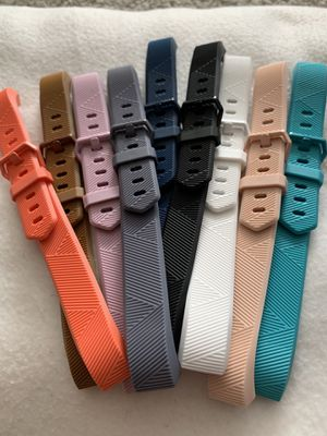 Fitbit Alta HR fitness tracker generic no brand replacement bands 9 colors size Small for Sale in Rochester, MI