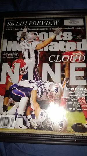 NEW ENGLAND PATRIOTS 9TH SUPER BOWL APPEARENCE SPORTS ILLUSTRATED FRONT COVER for Sale in Yardley, PA