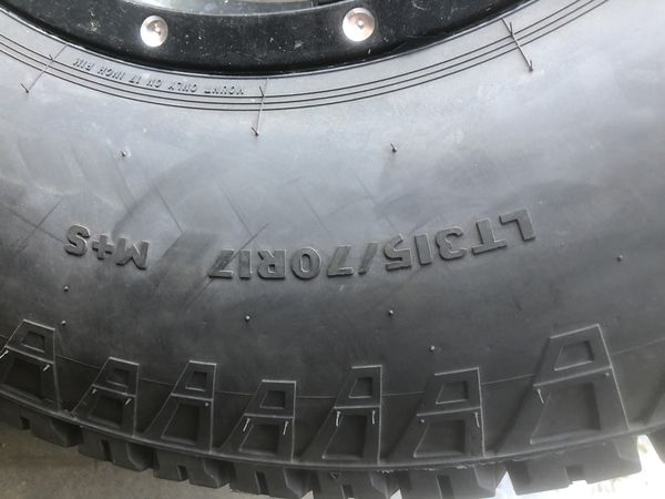Tires and wheels for sale 95% condition is left for Toyota Tacoma Chevrolet Silverado Tahoe Chevy Tahoe.