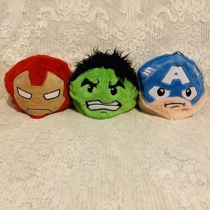 Set of 3 Marvel Iron Man Captain America Hulk for Sale in Los Angeles, CA