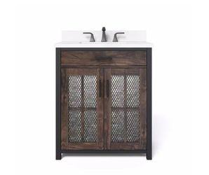 H.D.Coll. Drysdale 30 in. Wx 34.5 in. H Bath Vanity in Sable with Engineered Stone Vanity Top for Sale in Dallas,  TX