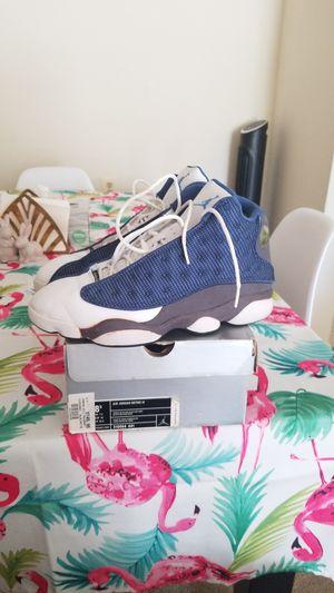 Jordan 13 retro flint grey blue size 8.5 for Sale in Silver Spring, MD