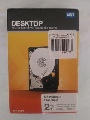 "NEW Western Digital WDBH2D0020HNC 2TB SATA Desktop Mainstream 3.5"" Hard Drive WD for Sale in Houston, TX"