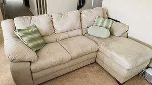 Chaise sofa and recliner set (mint green) for Sale in Temecula, CA