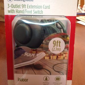 Three Outlet Christmas Tree Extension Cord with Foot/Hand switch. New in package. NE Garland Last one! for Sale in Garland, TX