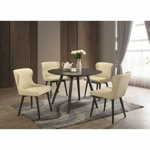 Classic Mid-Century Modern Wingback Chairs 5 piece Round Dining Table Set for Sale in Fontana, CA
