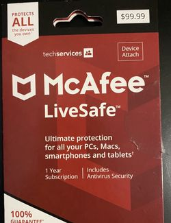 McAfee live safe PCs, Macs, Smartphones and tablets for Sale in Hollywood,  FL