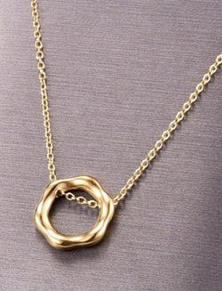 Hexagon Pendant 14k Gold Plated Titanium for Sale in Mount Clare,  WV