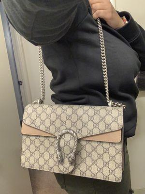 gucci gg supreme monogram medium dionysus shoulder bag taupe for Sale in Fort Washington, MD