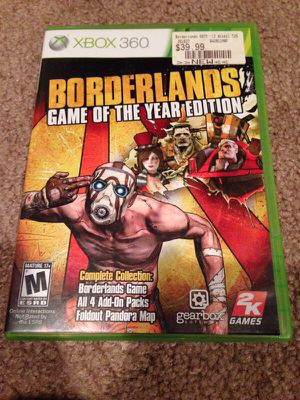 Borderlands Game of the Year GOTY Edition Xbox 360 for Sale in Seattle, WA