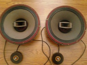 Vintage audio speakers-Lafayette 12 inch drivers with brilliance tuners for Sale in Dupo, IL