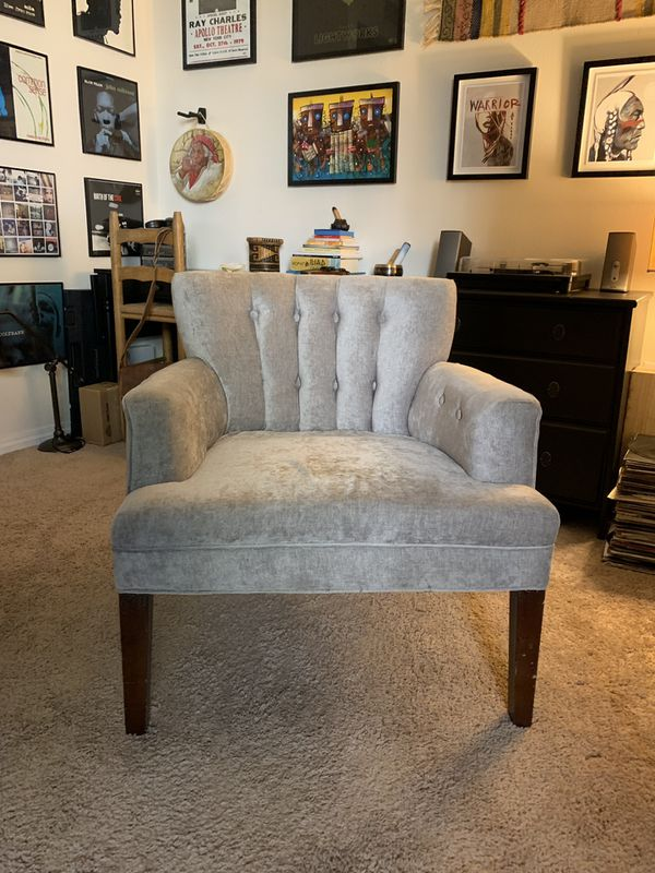 Gray Upholstery Arm Chair