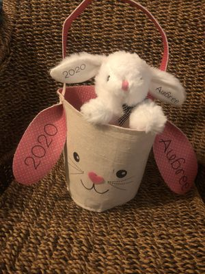 Easter basket / stuffed bunny for Sale in Lombard, IL