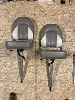 Two Bass/Fishing boat chairs w/ adjustable posts for Sale in Tolland,  CT