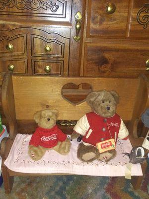 Coke Cole bears and beanch for Sale in Murfreesboro, TN