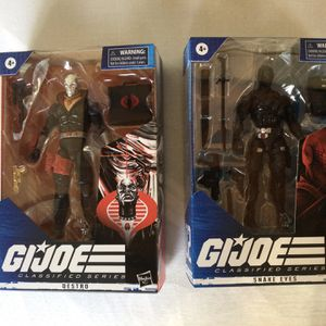 Brand New G.I. Joe action figure Snake Eyes and Destro for Sale in Aptos, CA
