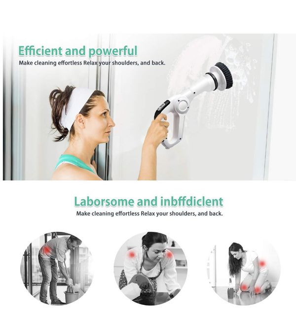 Cordless power scrubber
