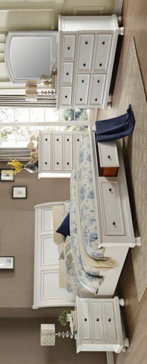 🧿BRAND NEW 🧿Laurelin White Storage Platform Sleigh Bedroom Set for Sale in Jessup, MD
