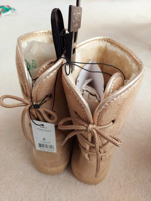 Womens Closed Toe Mid-Calf Cold Weather Boots Tan Sz 8 M & Blush sz 9 L (2 pr) for Sale in Layton, UT