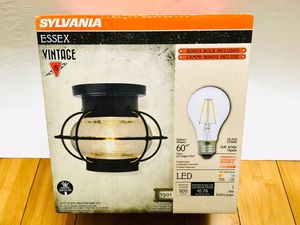 Essex Vintage Glass Ceiling Dimmable LED Light Fixture Bulb Lamp Rustic Kitchen and room (BULB INCLUDED ) for Sale in Huntington Park, CA