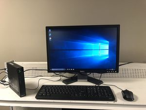 Small lenovo desktop comes with monitor keyboard and mouse for Sale in Medford, MA