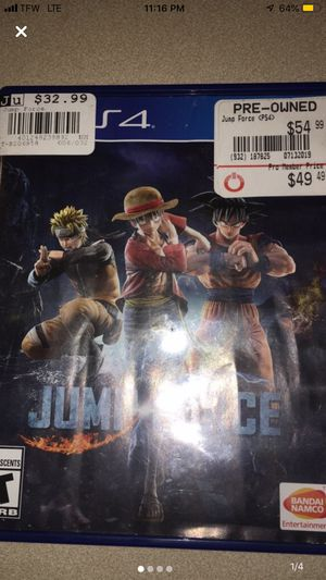 Jump force Game and case included for Sale in Indianapolis, IN