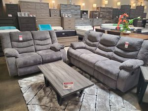 Reclining Sofa and Loveseat, Gray for Sale in Westminster, CA