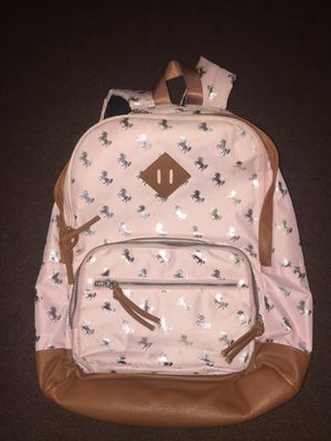 Unicorn backpack pink and leather for Sale in Los Angeles, CA