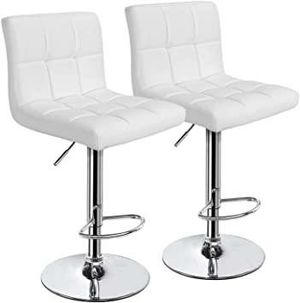 2 brand new white bar stools New in the box free delivery for Sale in Miami, FL
